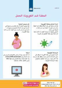 informatiekaart vaccineren arabisch